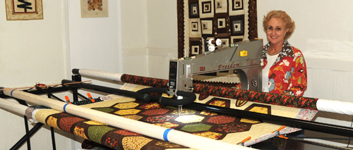 Longarm Machine at HeartSong Quilts